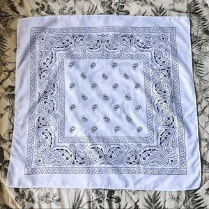 White Paisley Bandana/Scarf
